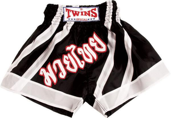 Twins Twins Thai Style Trunks Black/White